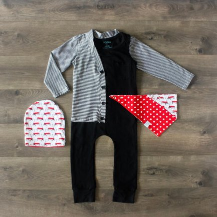 the-boy-box-black-romper-stripe-cardigan-cardi-wagon-bib-bibdana-subscription