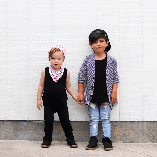 the-boy-box-monochrome-black-romper-cardigan-matching-coordiating-brothers