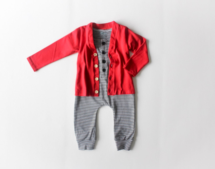 the-boy-box-baby-romper-cute-outfit-cardi-cardigan-red