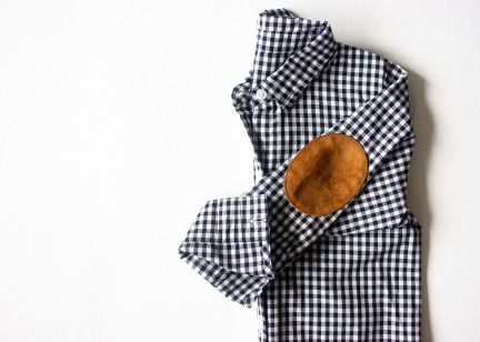 the-boy-box-black-toddler-kids-gingham-check-shirt-button-up-suede-elbow-patch