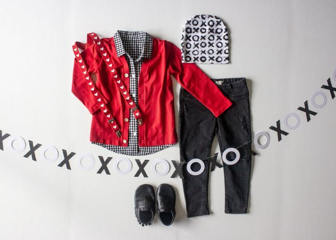 the-boy-box-february-valentine-valentines-outfit-cardigan-suspenders-heart-red-xoxo